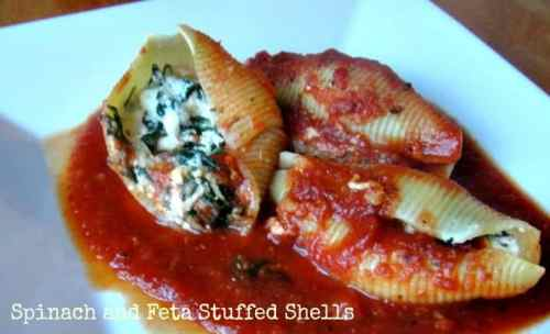 Spinach and Feta Stuffed Shells Freezer Meal