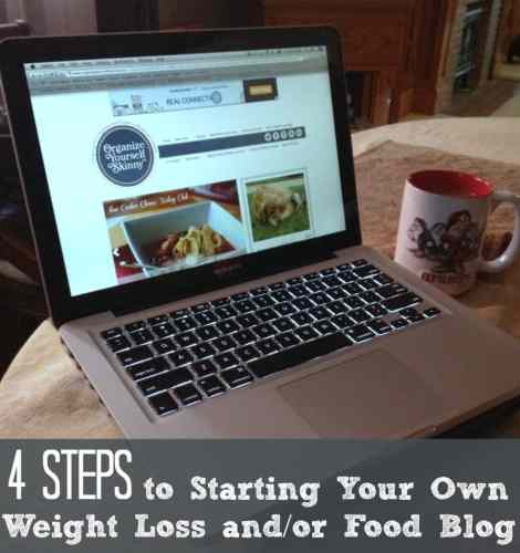 4 Steps to Starting a Weight Loss and/or Food Blog. How to Start a Food Blog. How to Start a Weight Loss Blog