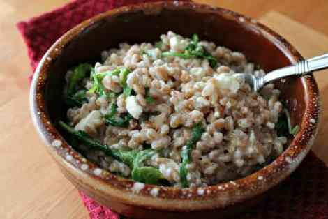 Farro Salad with Arugula and Feta