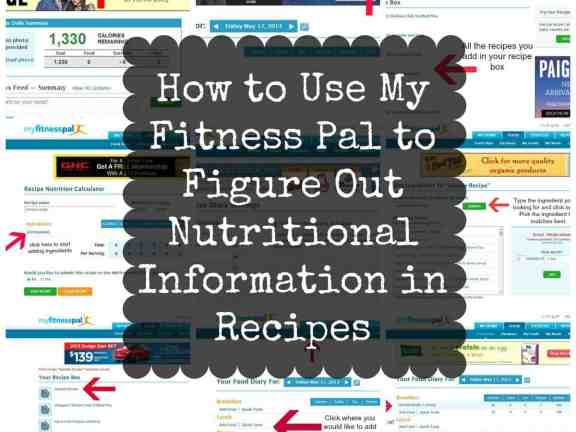 How To Use My Fitness Pal To Figure Out Nutritional