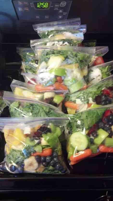 Smoothie Freezer Kits #freezercooking