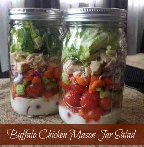 Buffalo Chicken Mason Jar Salad