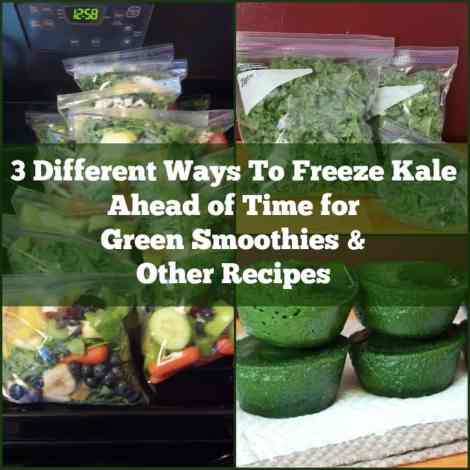 3 ways to freeze kale ahead of time for green smoothies and other recipes