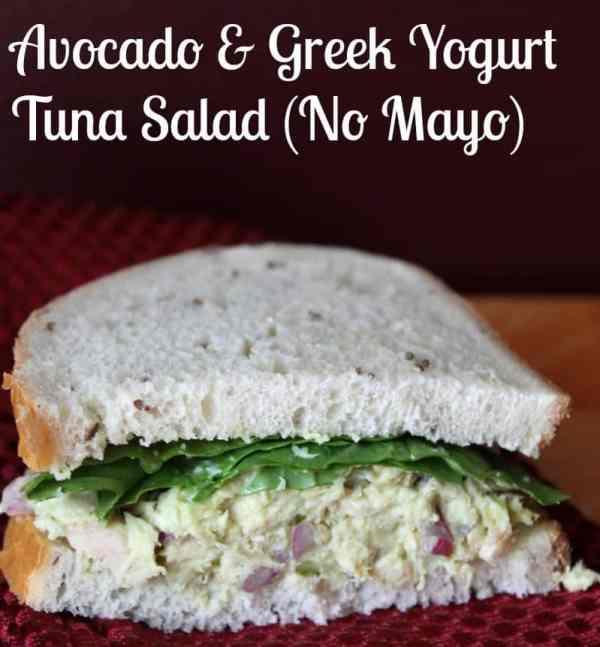 Avocado and Greek Yogurt Tuna Salad Recipe (No Mayo)
