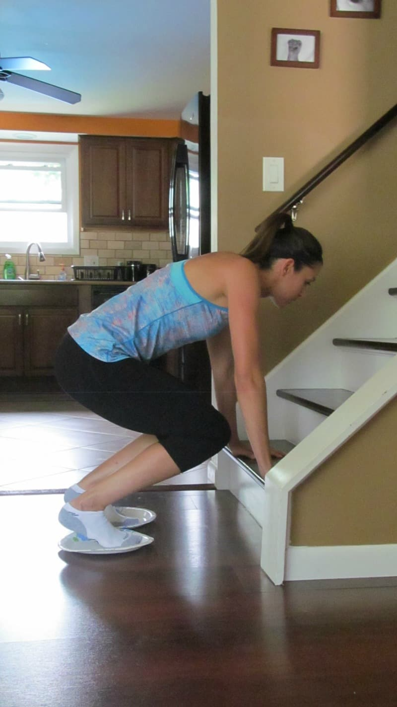 Sliding Quad Burner A & How to Exercise at Home with the Paper Plate Workout - Organize ...