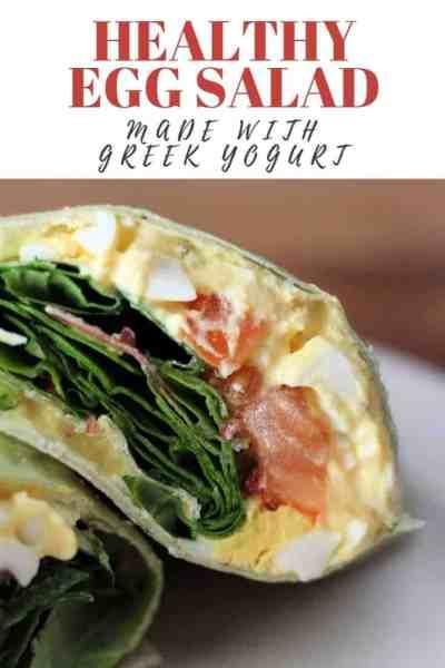 Healthy Egg Salad made with Greek Yogurt!