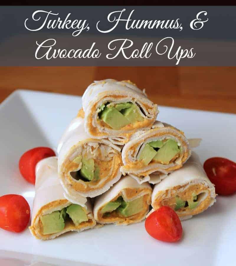 Turkey, Avocado, and Hummus Roll Ups {No Bread} - Organize Yourself Skinny