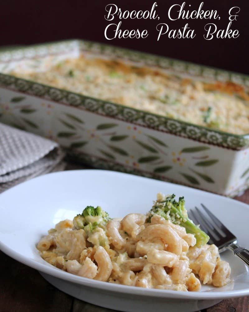 Broccoli, Chicken, And Cheese Pasta Bake - Organize -4038