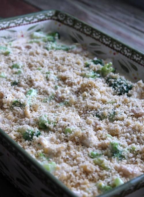 Broccoli cheddar chicken pasta bake recipe