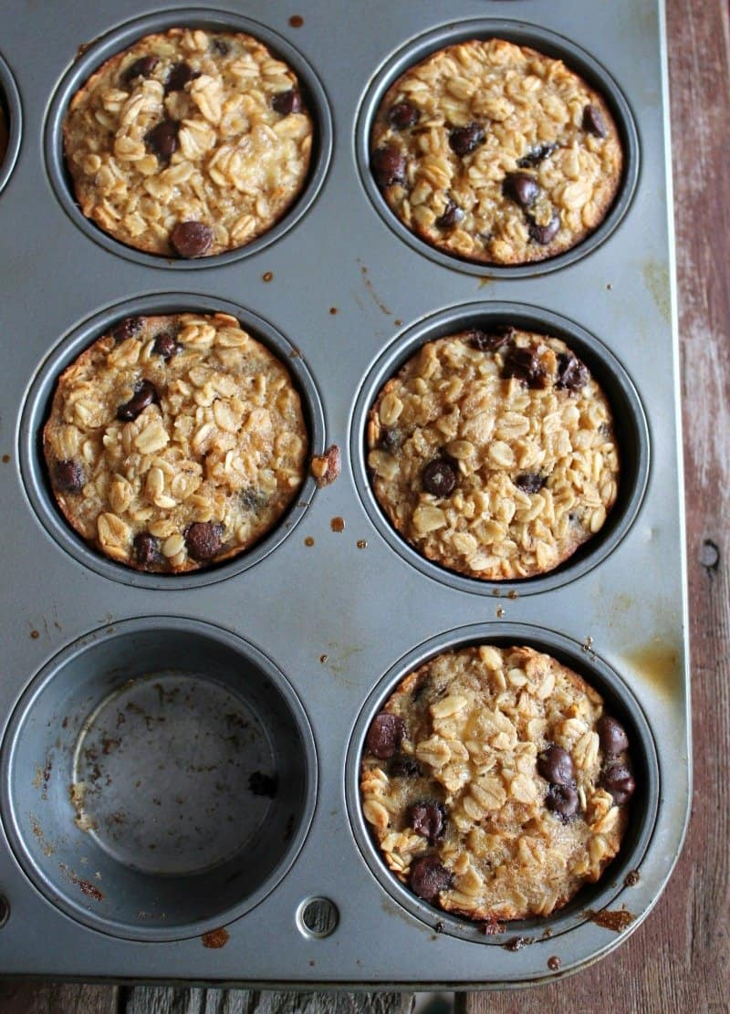 Image result for Banana and Chocolate Chip Oatmeal Cups