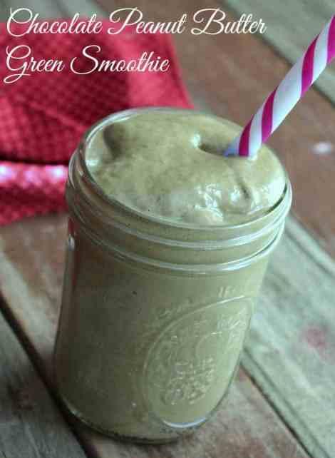 Chocolate Peanut Butter Green Smoothie Recipe @lovemysilk #ilovesilksoy