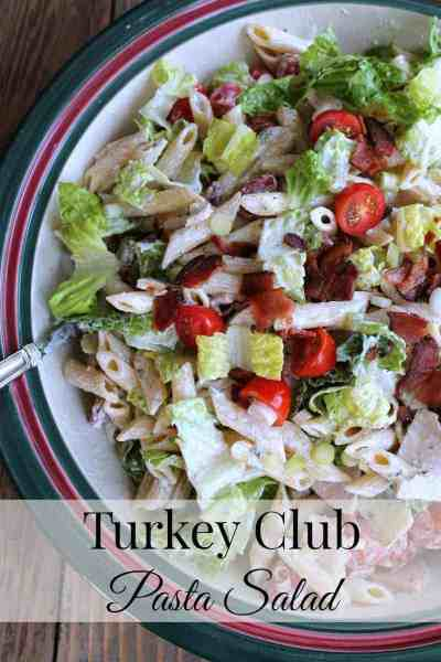 Turkey Club Pasta Salad #Barillalovesmoms @BarillaUS