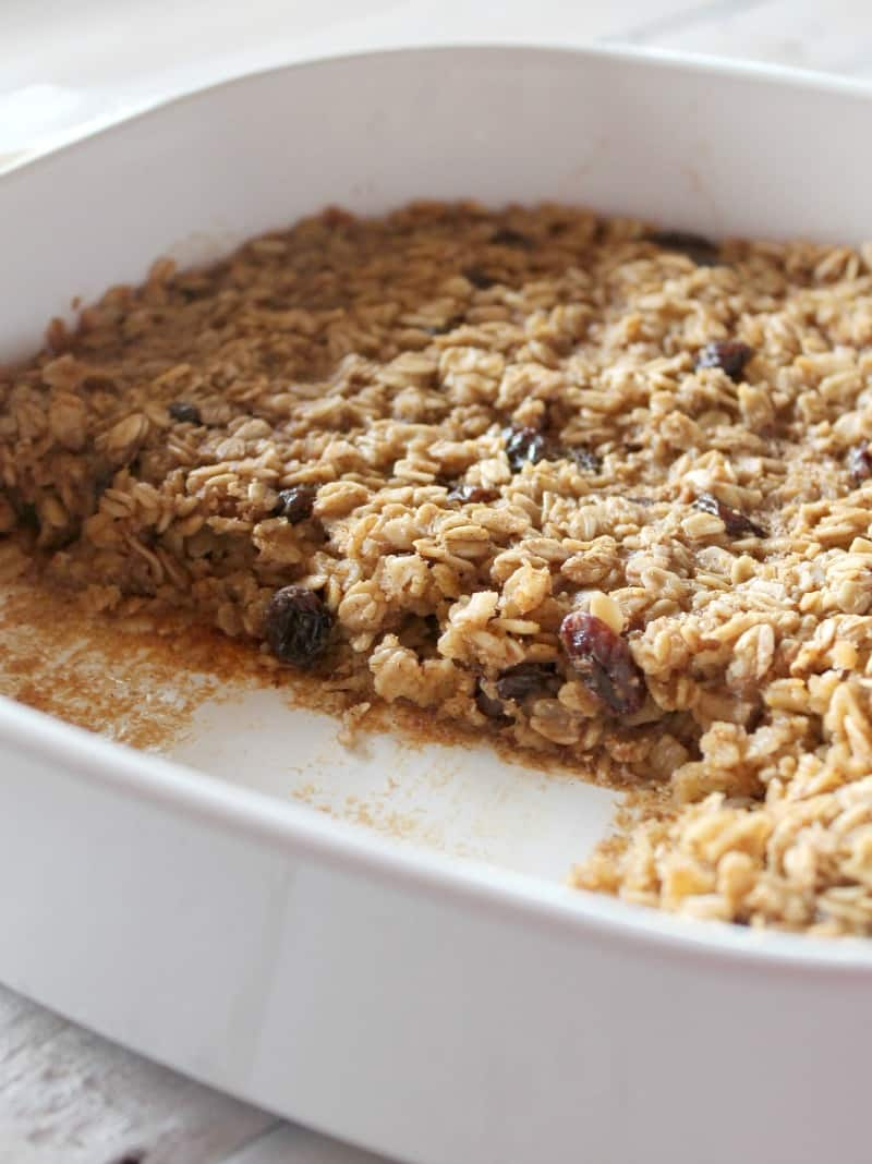 Cinnamon Raisin Baked Oatmeal 204 calories and 6 weight watchers points plus