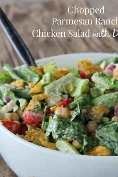 Chopped Parmesan Ranch Chicken Dorito Salad