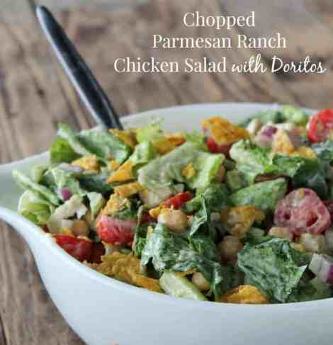 Chopped Parmesan and Ranch Chicken Salad with Doritos