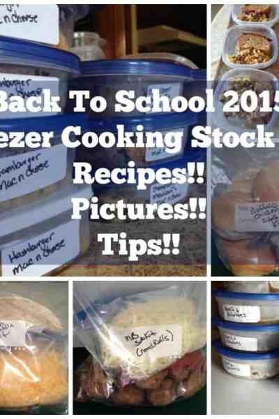 Back to School 2015 Freezer Cooking Stock Up.