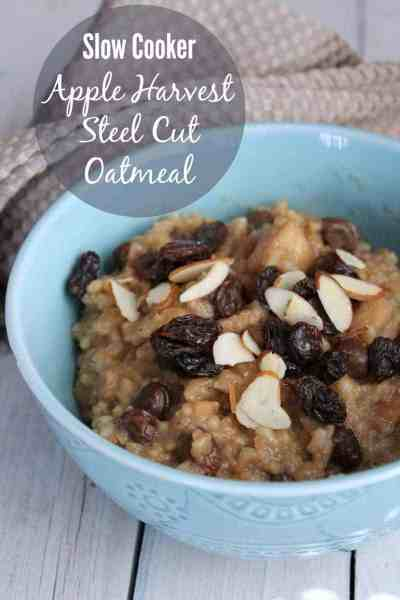 Slow Cooker Apple Harvest Steel Cut Oatmeal