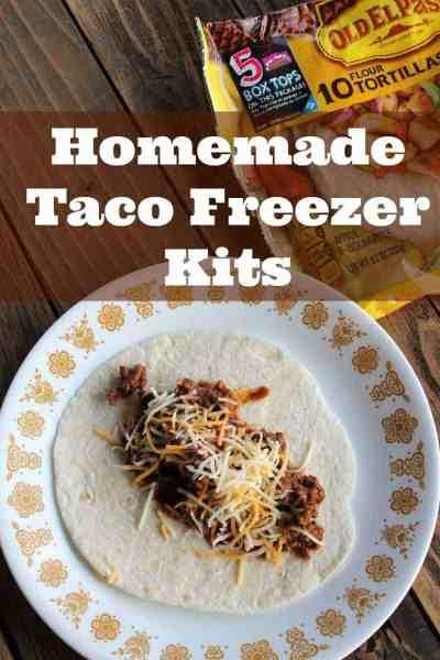 Back to School Homemade Taco Freezer Kits #BTFE