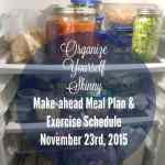 Make-ahead Meal Plan and Exercise Schedule {November 23rd, 2015}