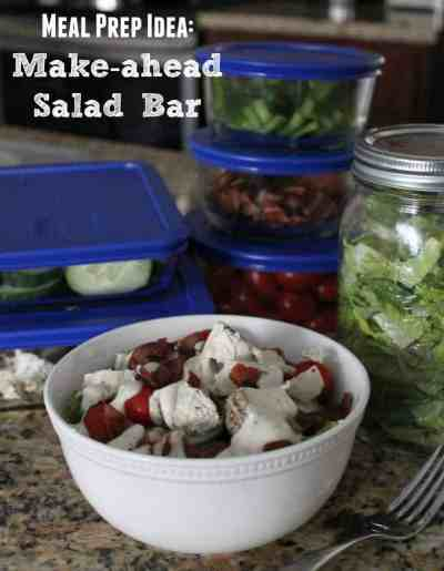 Meal Prep Idea: Make-ahead Salad Bar
