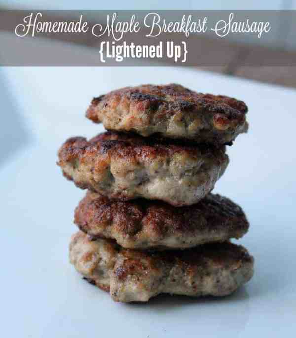 Homemade Maple Breakfast Sausage {Lightened Up)