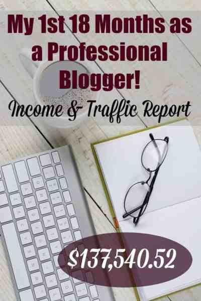 My 1st 18 Months as a Professional Blogger: Income and Traffic Report + Lessons Learned