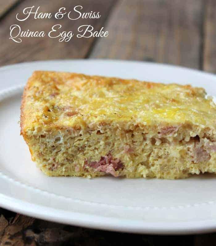 Ham and Swiss Quinoa Egg Bake