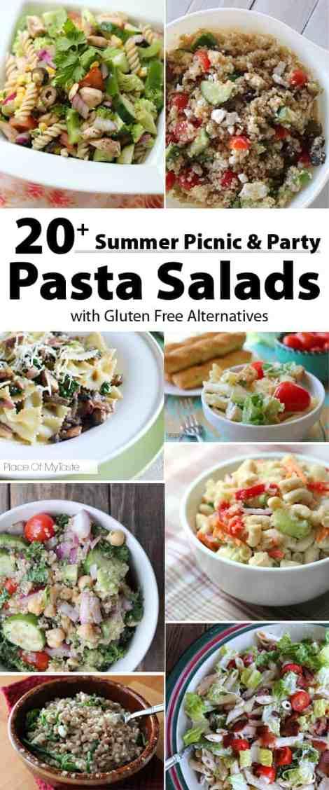 20 + Summer Picnic Pasta Recipe with Gluten Free Alternatives