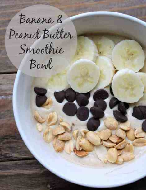 Banana Peanut Butter Smoothie Bowl