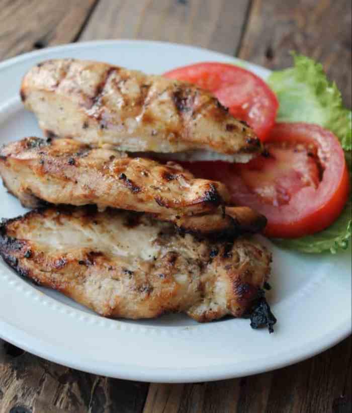 Piccata-style grilled chicken recipe