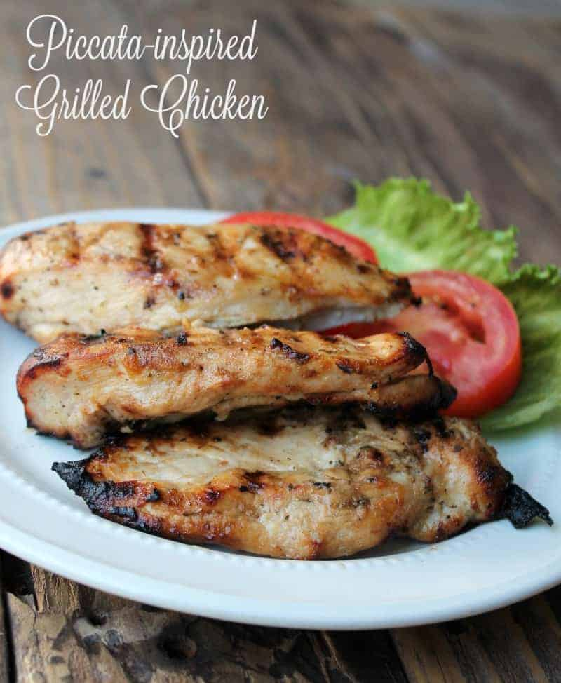 Piccata-inspired grilled chicken recipe
