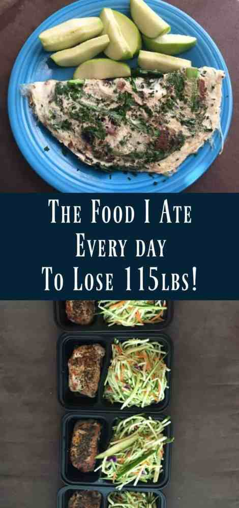 The Food I Ate Every Day to Lose 115lbs!