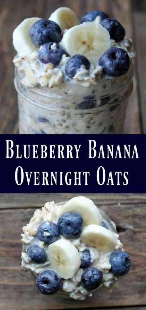 Blueberry Banana Overnight Oats Recipe