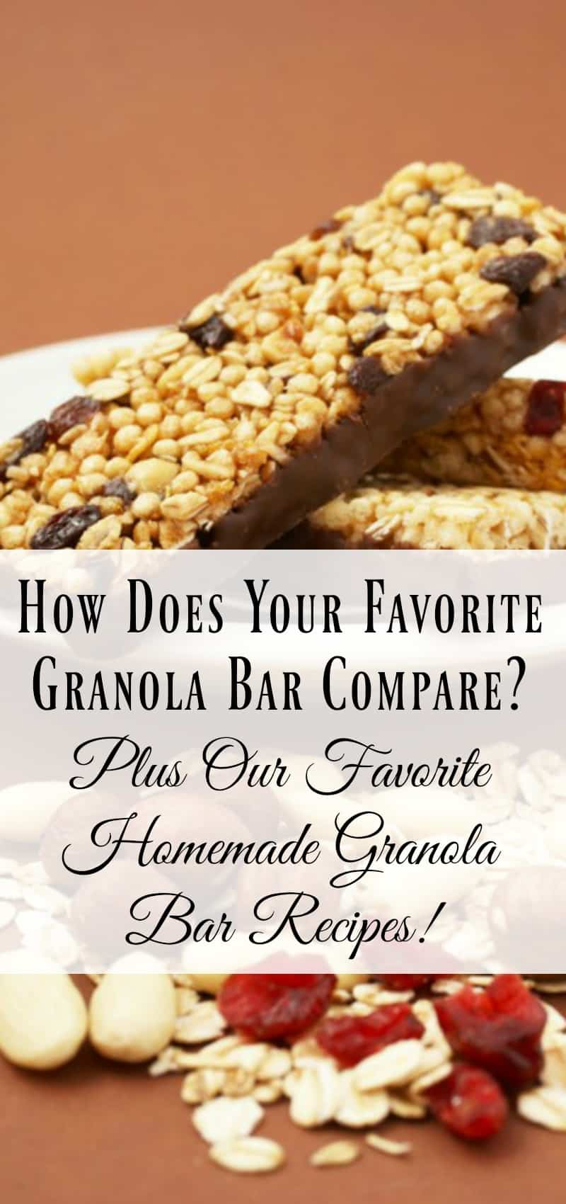 How Does Your Favorite Granola Bar Compare? Plus Our Favorite Homemade Granola Bar Recipes