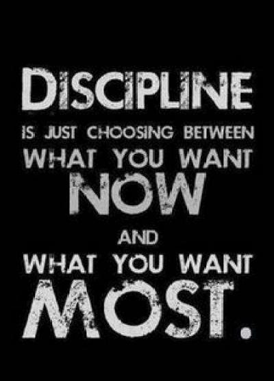 weight loss discipline