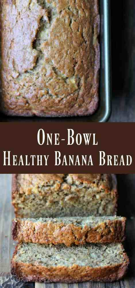 One bowl healthy banana bread organize yourself skinny one bowl healthy banana bread recipe forumfinder Images