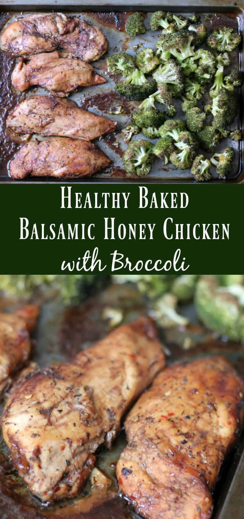 Healthy Baked Balsamic Honey Chicken with Broccoli