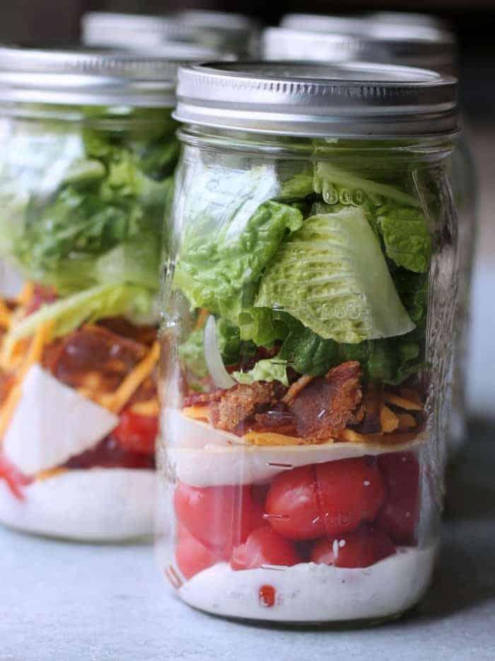Turkey Ranch Club Mason Jar Salad