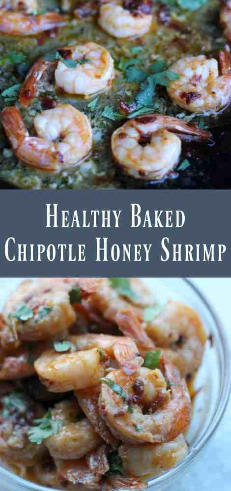 Healthy Baked Chipotle Honey Shrimp