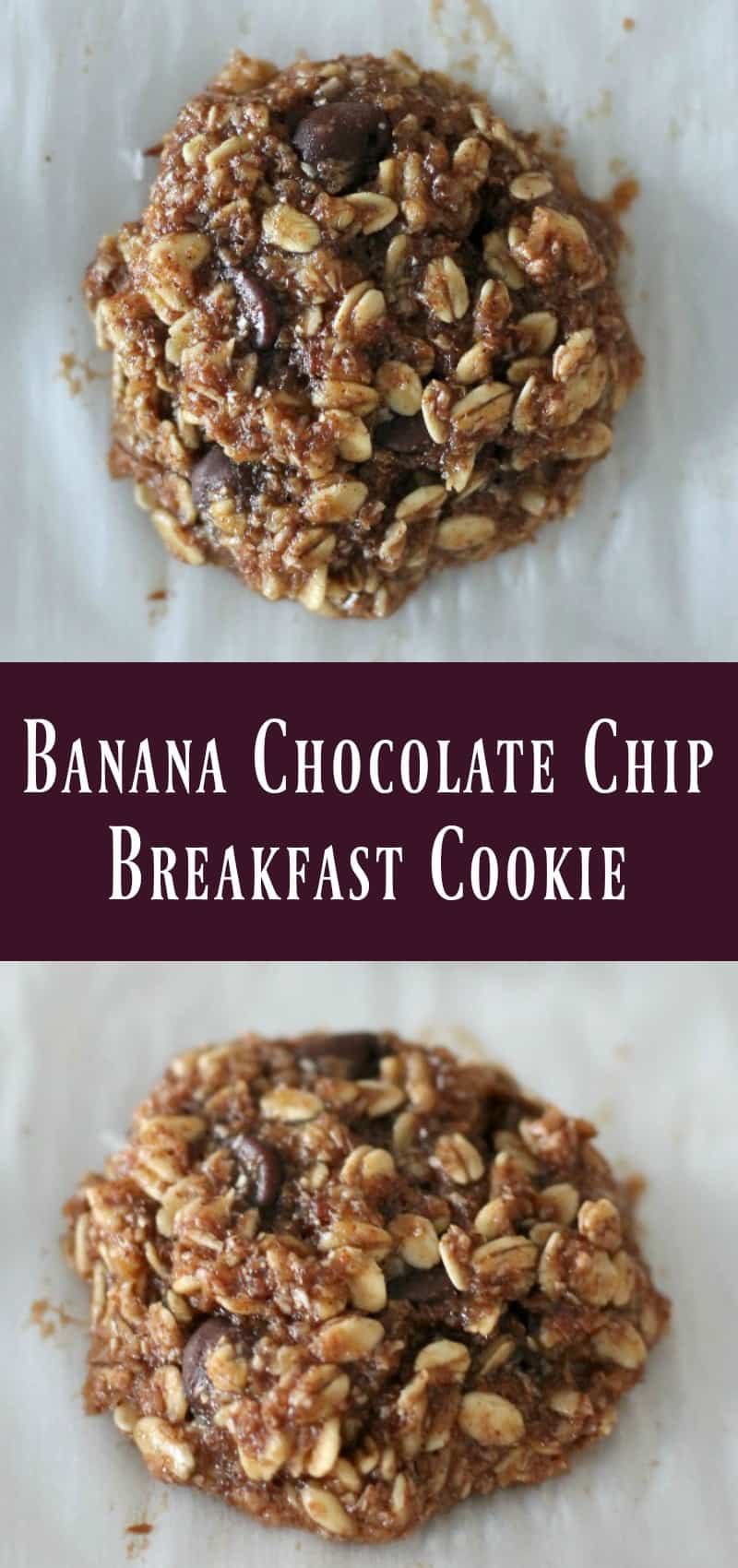 Banana Chocolate Chip Breakfast Cookie Recipe