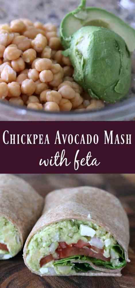 Chickpea Avocado Mash with Feta
