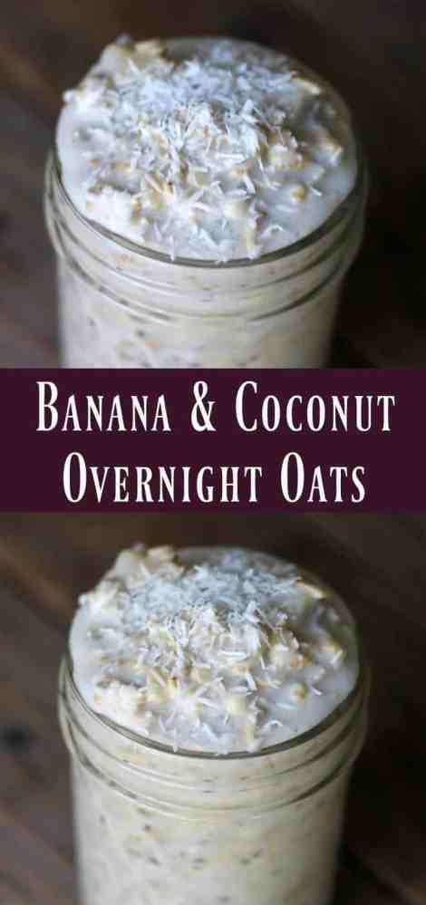 Banana and Coconut Overnight Oats