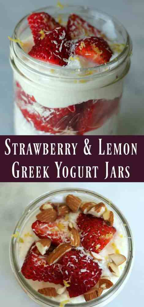 Strawberry and Lemon Greek Yogurt Jars