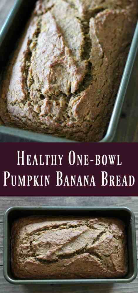 Healthy One-bowl Pumpkin Banana Bread