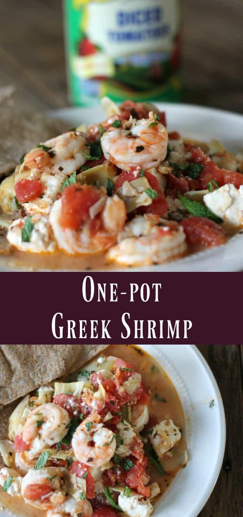 Healthy One-pot Greek Shrimp pantry meal recipe