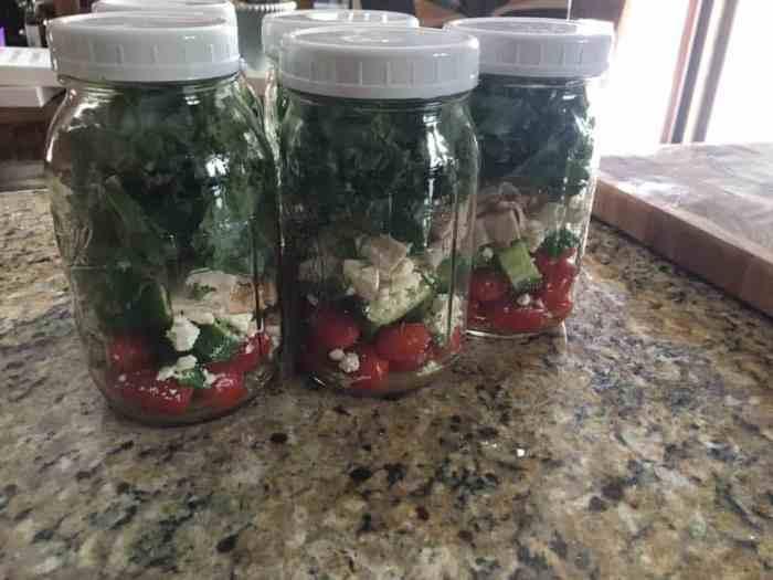 Make-ahead Mason Jar Salads