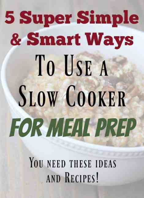 Slow Cooker Meal Prep Ideas