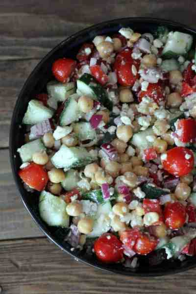 Chickpea Salad with Feta and Dill