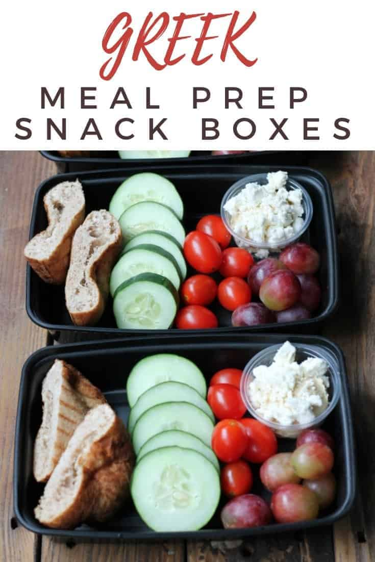 Easy Meal Prep: Greek Snack Boxes