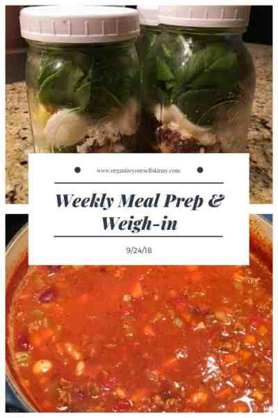 Weekly Meal Prep & Weigh-in {September 24th, 2018}